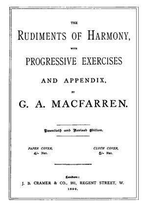 Sheet Music The Rudiments of Harmony