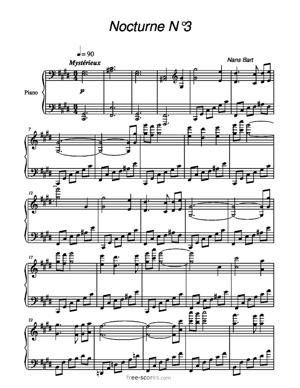 Sheet Music Nocturne N°3