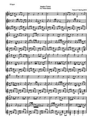 Sheet Music Asaku-Tomu