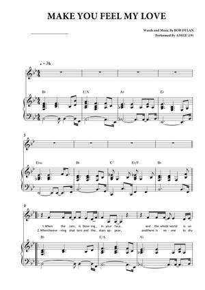 Sheet Music Adele - Make You Feel My Love