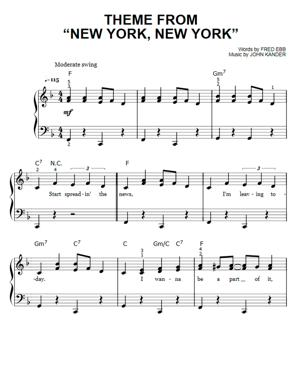 Sheet Music Frank Sinatra - New York New York (Easy Piano)