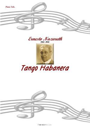 Sheet Music Tango Habanera