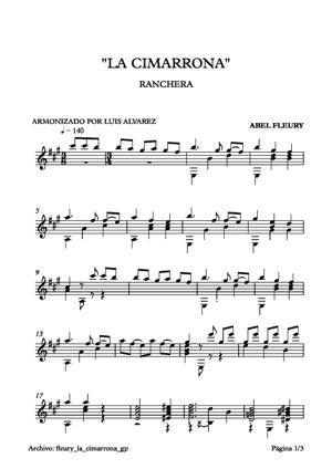 Sheet Music fleury la cimarrona