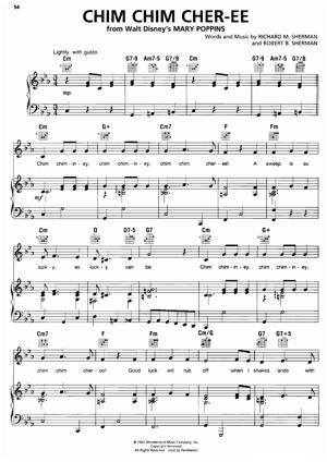 Sheet Music from Mary Poppins - Chim Chim Cheree