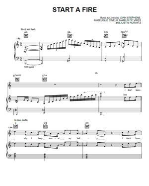 Sheet Music John Legend from La La Land - Start A Fire
