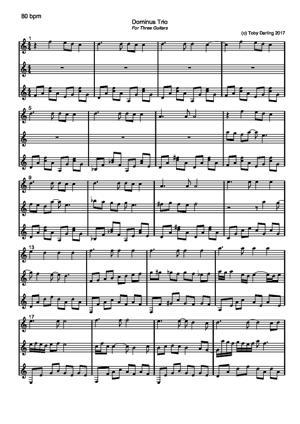 Sheet Music Dominus Trio
