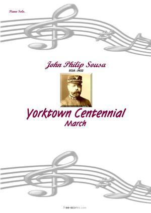 Sheet Music Yorktown Centennial