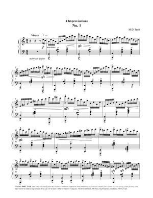 Sheet Music 4 Improvisations No. 1