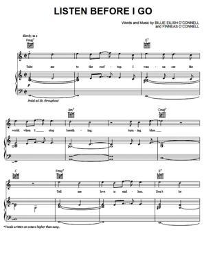 Sheet Music Billie Eilish - Listen Before I Go