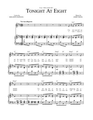 Sheet Music from She Loves Me - Tonight at Eight