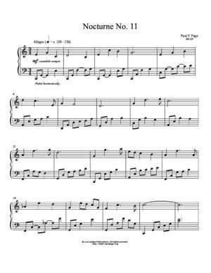 Sheet Music Nocturne No. 11