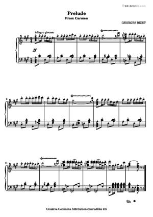 Sheet Music Carmen - Prelude