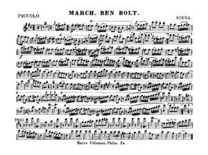 Sheet Music Ben Bolt March