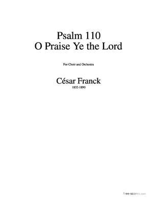Sheet Music Psalm 150