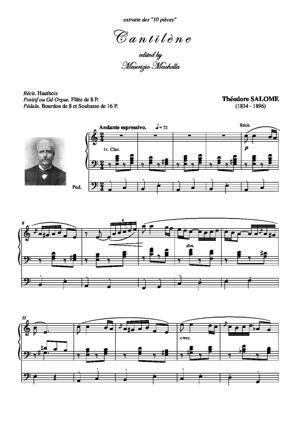 Sheet Music Cantilene pour l'Orgue
