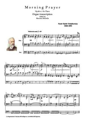 Sheet Music Morning Prayer. Organ transcription