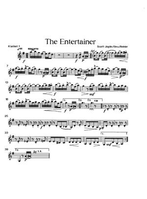 Sheet Music The Entertainer