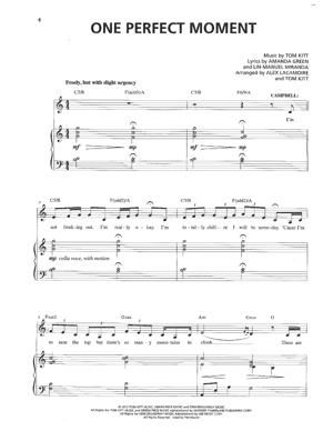 Sheet Music from Bring It On - One Perfect Moment