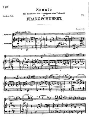 Sheet Music Arpeggione (ou Violon) Sonata (D821)
