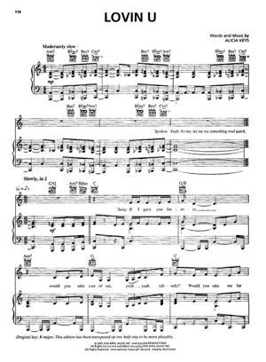 Sheet Music Alicia Keys - Lovin U