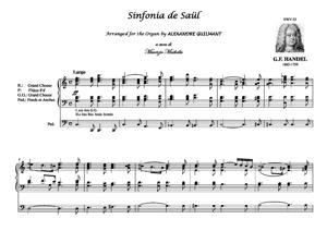 Sheet Music Sinfonia de Saül. Organ transcription: A.Guilmant