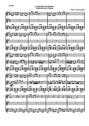 Sheet Music U Stambolu Na Bosforu