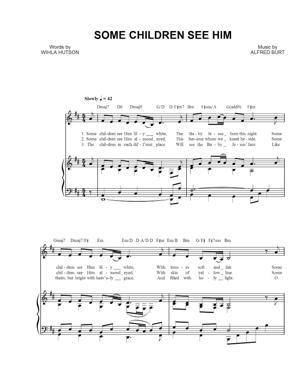Sheet Music Alfred Burt - Some Children See Him