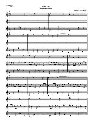 Sheet Music Oak Trio