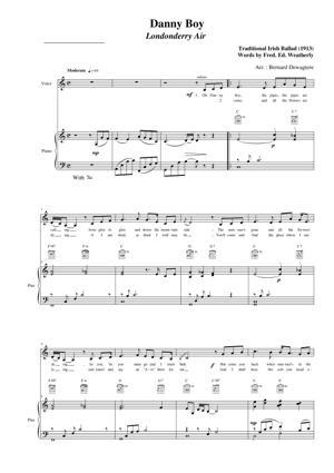 Sheet Music Traditional Irish - Danny Boy