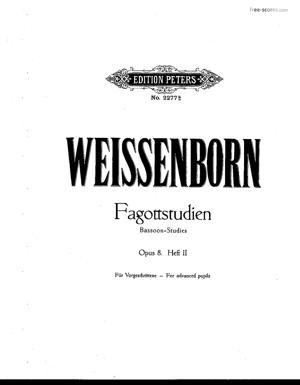 Sheet Music Fagott-Studien. (Bassoon studies) - Volume 2