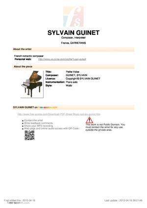 Sheet Music Petite Valse