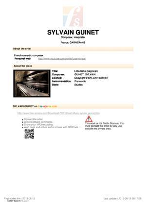 Sheet Music Little Satie (beginner)