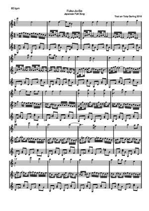 Sheet Music Fuku-Ju-So [Japanese folksong]