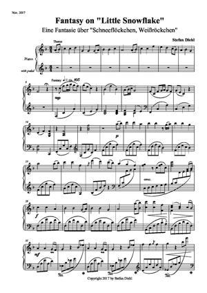 "Sheet Music Fantasy on ""Little Snowflake"""