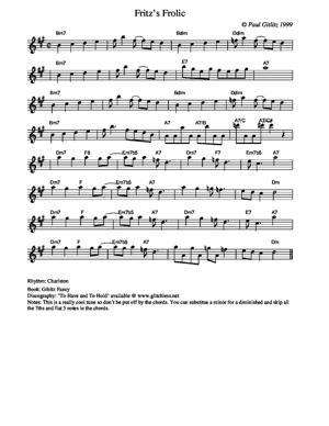 Sheet Music Fritz's Frolic