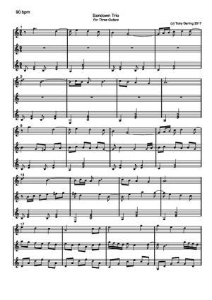 Sheet Music Sandown Trio