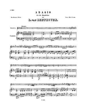 Sheet Music Adagio for Mandolin and Harpsichord