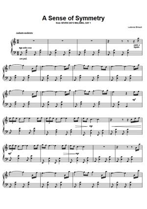 Sheet Music Ludovico Einaudi - A Sense Of Symmetry