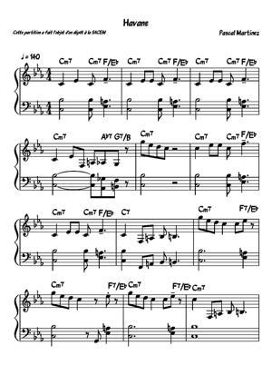 Sheet Music Havane