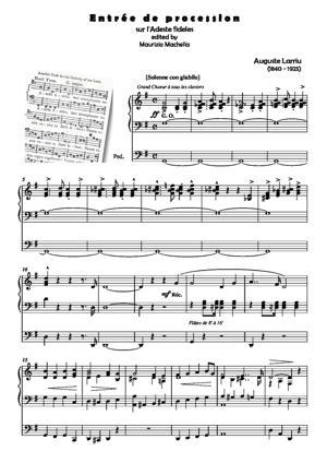"""Sheet Music Entrée de Procession sur """"l'Adeste Fideles"""""""
