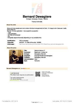Sheet Music German dance in F