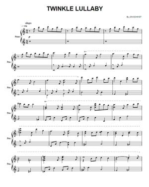 Sheet Music The Piano Guys - Twinkle Lullaby