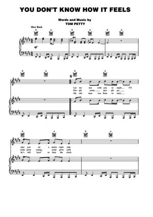 Sheet Music Tom Petty - You Don't Know How It Feels
