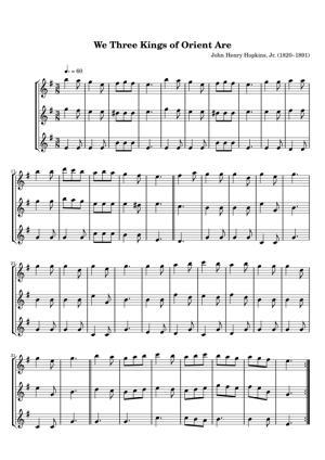 Sheet Music John Henry Hopkins, Jr. (1820–1891) - We Three Kings of Orient Are
