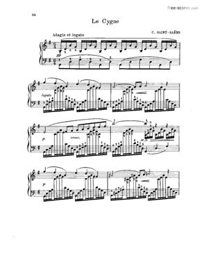 Sheet Music The Swan (from Carnival of the Animals)