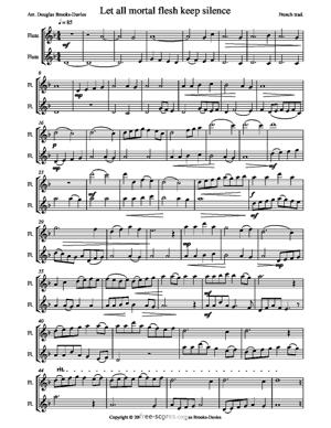 Sheet Music Christmas Carols for flute duet