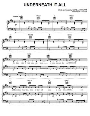 Sheet Music No Doubt - Underneath It All