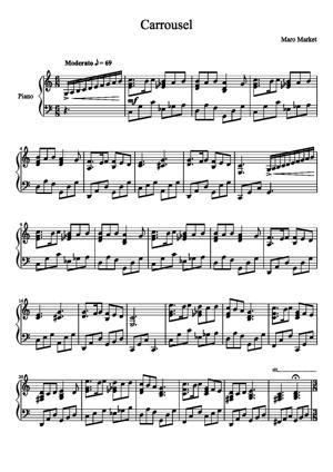Sheet Music Carousel