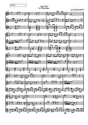 Sheet Music Lear Trio