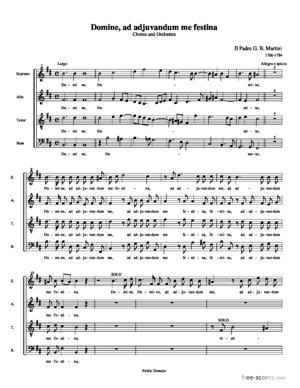 Sheet Music Domine, ad adjuvandum me festina